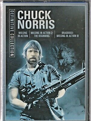 Chuck Norris Triple Feature - Missing in Action 1, 2 & 3 New and Sealed