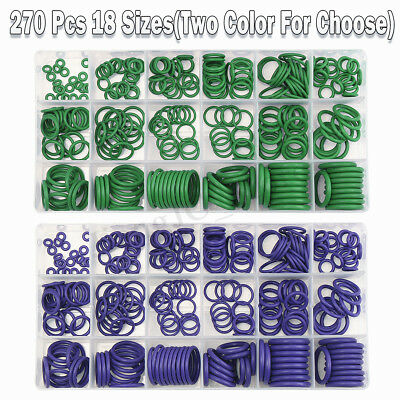 270Pcs/Box Auto Air Conditioning O-Ring Seal Rubber Washer Gasket Assortment Kit