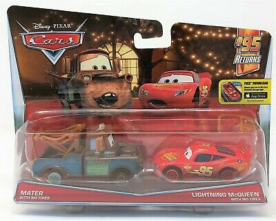 Disney Cars Lightning McQueen and Mater No Tires Diecast Vehicle Car Toy