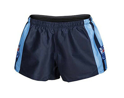 NSW Blues State Of Origin NRL Classic Mens Heritage Hero Footy Shorts Size S-4XL