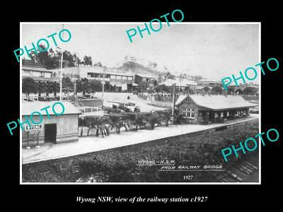OLD LARGE HISTORIC PHOTO OF WYONG NEW SOUTH WALES, THE RAILWAY STATION c1927