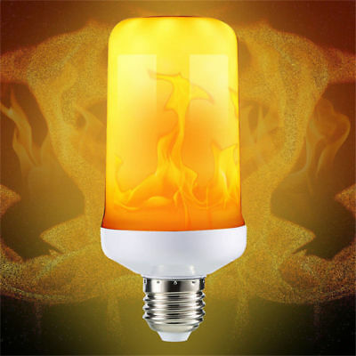 4Modes E27 LED Flicker Flame Light Bulb Simulated Burning Fire Effect Party Lamp