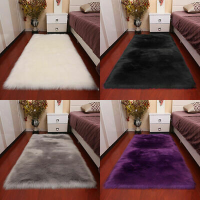 Super Soft Large Sheepskin Rugs Long Fluffy Faux Wool Fur Rug Carpet Floor Mat