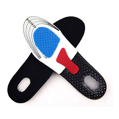 Men Gel Orthotic Sport Running Insoles Insert Shoe Pad Arch Support Cushion oik