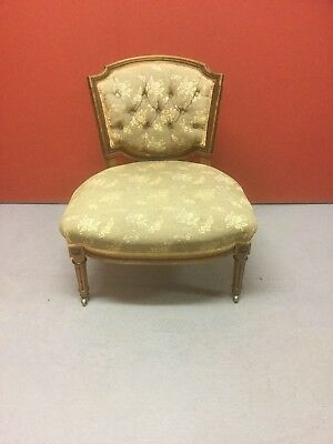 Antique Victorian Button Back Chair Sn-613