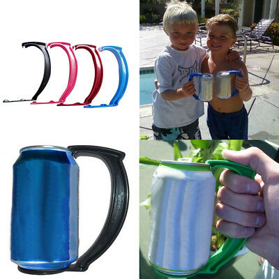 Can Grip Instantly Turns Your Into Mug Handle Set of 12-Ounce Can Bottle Handle