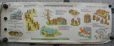 Wall Picture Geschichtsfries Christianity Europa 139x50 Vintage History Map 1965