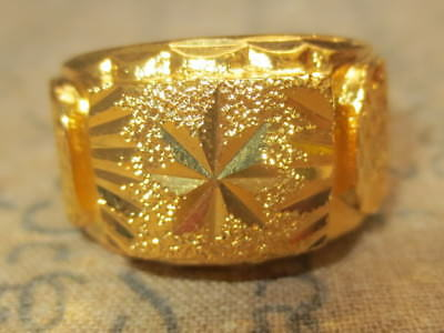 So Rare Blessed Magic Gold Luxury Ring Top Charm Rich Lucky Thai Buddha Amulets