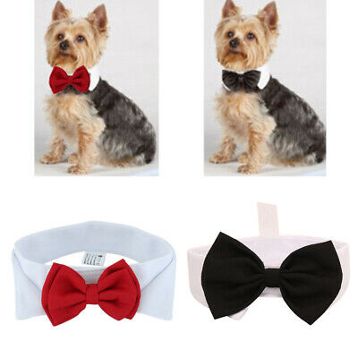 Fashion Adjustable Bow Tie Collar Necktie Bowknot Clothes For Pet Dog Cat cvf