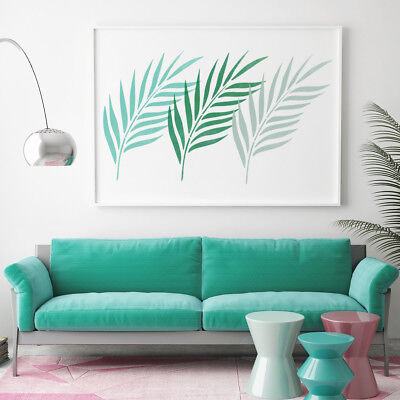 Palm Leaf Wall Stencil - Large Reusable Tropical Foliage Template by CraftStar
