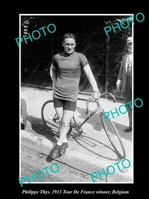 Old Large Historic Cycling Photo Of 1913 Tour De France Winner Philippe Thys 2