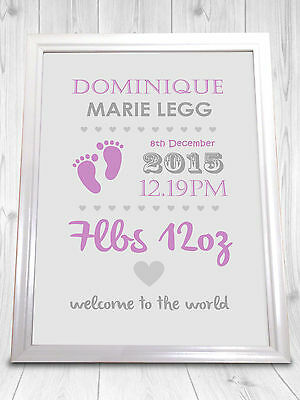 Perfect Gift For The Birth of a New Born Baby or Christening Present. A4 PRINT