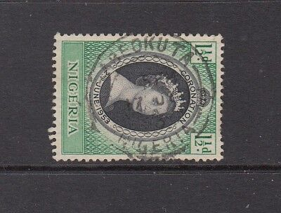 NIGERIA  STAMP WITH ABEOKUTA  CANCEL  .Rfno A518.