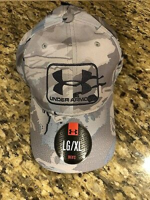 73566d40caa Under Armour UA Free Fit Realtree Camo Stretch Fit Cap Hat Size M L 1284446
