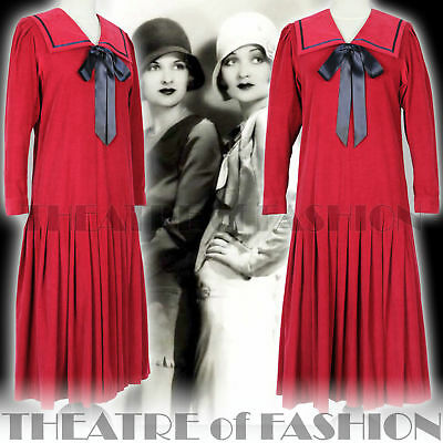 DRESS 20s GATSBY WEDDING VINTAGE LAURA ASHLEY 30s 40s 50s VAMP VICTORIAN SAILOR