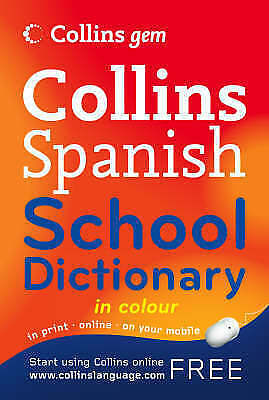 Spanish School Dictionary by HarperCollins Publishers (Paperback) MINI GEM BOOK