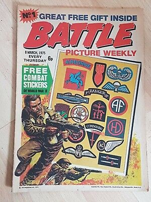 Battle Picture Weekly Comic Number No.1 March 8th 1975