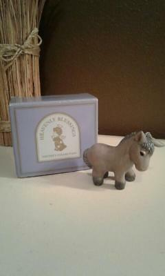 Vintage Avon~Heavenly Blessings Nativity Collection~Donkey~1986~Porcelain