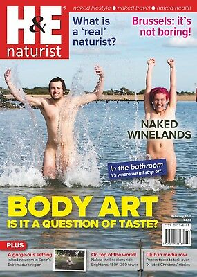 H&E naturist February 2019 magazine nudist health efficiency