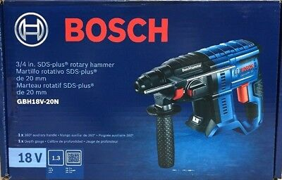 NEW BOSCH GBH18V-20N - 18V 3/4 In. SDS-plus Rotary Hammer - Bare Tool