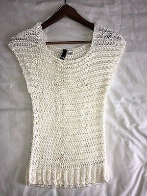 c74174e08 WOMEN'S DIVIDED BY H&M Sweater Top White Small brand new