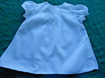 Vintage Infant Handmade Baby Dress/white Work Embroidery&original Tag Circa 1930