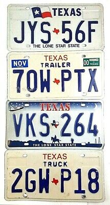 Texas Old License Plates Vtg Car Tags Garage Man Cave Gift Wall PICK-A-PLATE