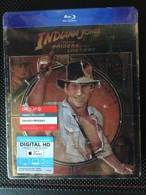 Indiana Jones And The Raiders Of The Lost Arc (Blu-ray, 2015) Target Metalpack