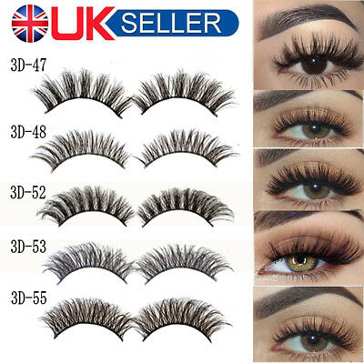 3D Mink Makeup False Eyelashes Set Natural Long Thick Fake Eye Lashes Extension