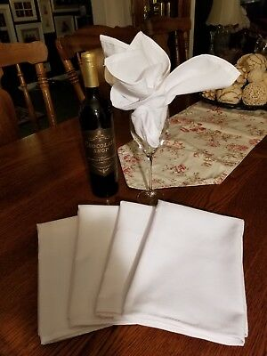 400 New Poly cotton napkins premium 20'', Sold in increments of 50 @  $ .75 ea