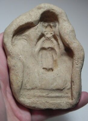 ZURQIEH -as10618-  ANCIENT HOLY LAND. PERSIAN? TERRACOTTA MOULD. 300 B.C
