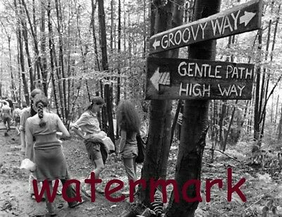 August 15 '69 Woodstock Pick Your Path Music Or Relax Go Groovy  Publicity Photo