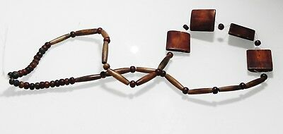 ZURQIEH -as10622-  ANCIENT EGYPT. BYZANTINE OR COPTIC  WOODEN BEADS. 600-800 A.D