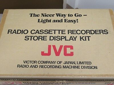 JVC Radio Cassette Recorders Store Display kit Posters Catalogue Made in Japan