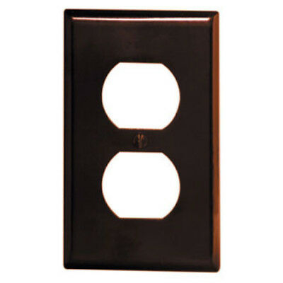 5-PK Leviton Brown Single Gang Receptacle Outlet Plastic Wall Plate 85003 NEW