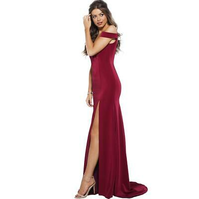 f9fbe4433f JVN by Jovani Womens 57297A Prom Off-The-Shoulder Evening Dress Gown BHFO  7549