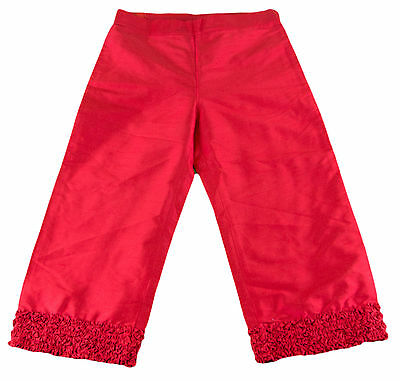 JACADI Girl's Relever Lacquered Red 3/4 Length Trouser Pant Sz 8 Years NWT