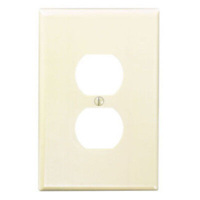 2-PK Leviton IVORY Single Gang Outlet Recep OVERSIZED Wall Plate Cover 86103 NEW