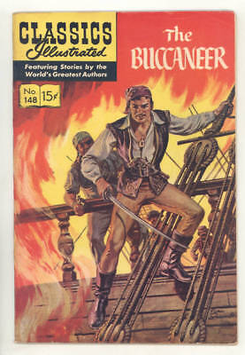 CLASSICS ILLUSTRATED: THE BUCCANEER #148 based on movie! 2nd edition.Rare! FINE!