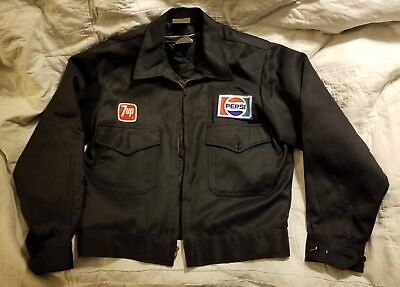 😃 PEPSI 7UP Nearly NEW Removable Insulated delivery jacket GOLDSTEIN Brothers