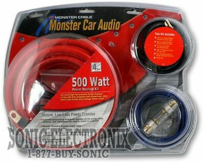 Excellent Monster Cable 300 Advanced Performance Amp Power Kit 500 Watts 80 Wiring Digital Resources Almabapapkbiperorg