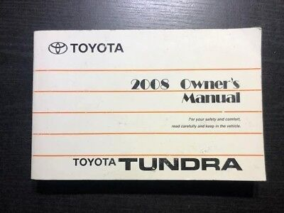 2008 toyota tundra owners manual
