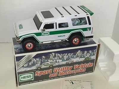 2004 Hess Sport Utility Vehicle and Motorcycles New in box