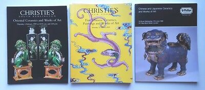 Christie's Phillips Auction Catalogs Chinese Ceramics Works of Art 1998 1999