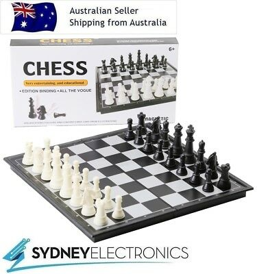 Magnetic Folding Portable Chessboard Game Box Set Kids Toy Puzzle- Chess Board