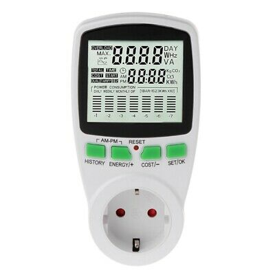 LCD EU Digital Meter Voltage Wattmeter Power Electricity Consumption Analyzer
