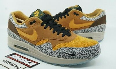 another chance 1a1b8 a64cc Nike Air Max 1 New Size 14 Atmos Safari Flax Kumquat Chestnut 665873 200