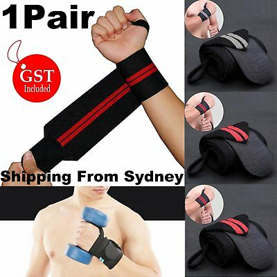 Weight Lifting Gym Training Wrist Support Straps Wraps Muscle Bodybuilding Stren