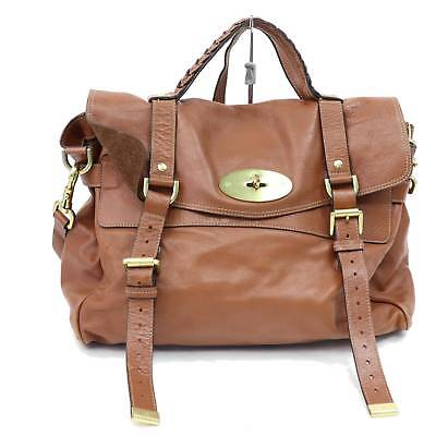 1672a1563a Mulberry Roxanne Dark Brown Leather Buckle Satchel Hand Bag Purse Vintage.