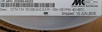 Micro Crystal CC7V-T1A-100.000kHz-9pF-100PPM. New lot of 1 piece